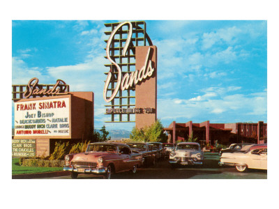 Sands Hotel, Las Vegas,  Nevada , Retro Premium Poster
