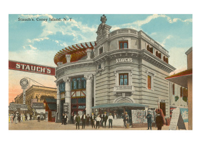 Stauch's, Coney Island, New York City Premium Poster