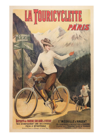 French Bicycle Race Poster