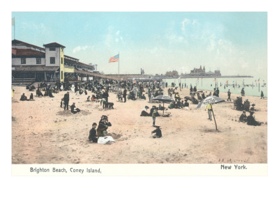 Brighton Beach, Coney Island, Brooklyn, New York Premium Poster