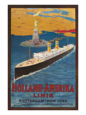Oceanliner, Statue of Liberty, New York City Posters
