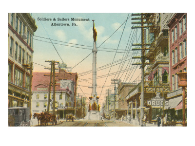 Soldiers and Sailors Monument, Allentown, Pennsylvania Prints