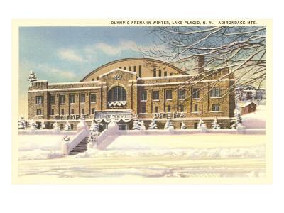 Olympic Arena, Lake Placid, New York Print