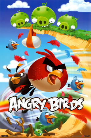 Angry Birds smartphone game cover poster artwork