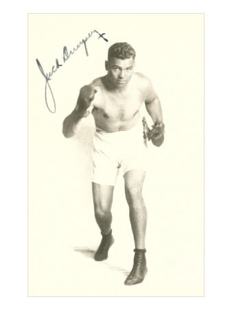 Jack Dempsey Boxer stance boxing photo poster print