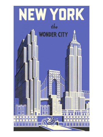 New York, the Wonder City Premium Poster