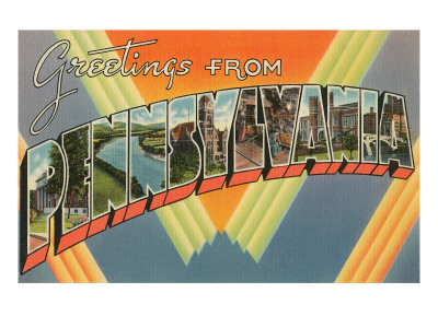 Greetings from Pennsylvania Poster