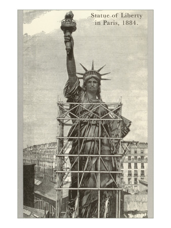 Construction of the Statue of Liberty Posters