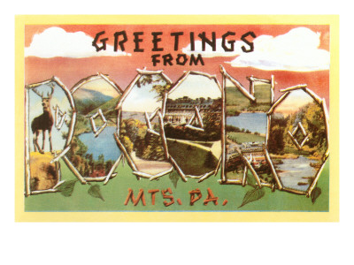 Greetings from Pocono Mountains, Pennsylvania Posters