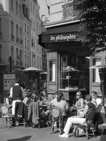 Restaurant/Bistro in the Marais District, Paris, France Photographic Print by Jon Arnold