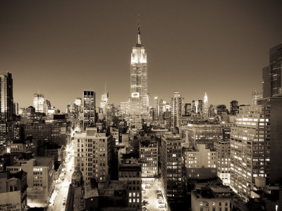 USA, New York, Manhattan, Midtown, Empire State Building Photographic Print by Alan Copson
