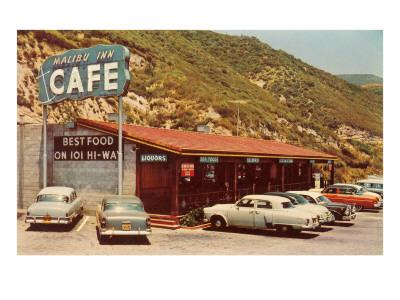 Malibu Inn Cafe, Roadside Retro Prints