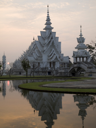 Thailand, Chiang Rai, Wat Rong Khun, the White Temple Photographic Print by Steve Vidler