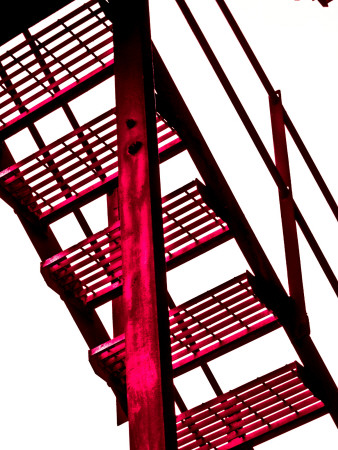 Red Fire Escape Photographic Print by David Ridley