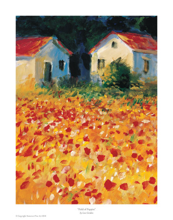 Field Of Poppies Posters by Lew Gordon