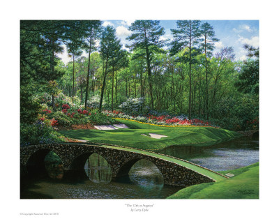The 12th At Augusta Prints by Larry Dyke