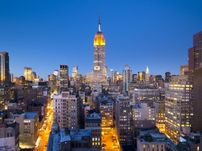 USA, Manhattan, Midtown, Empire State Building Photographic Print by Alan Copson