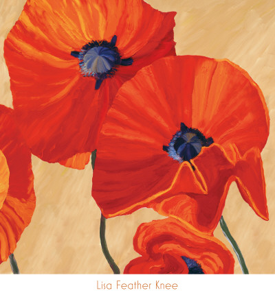 Oriental Poppy Right Posters by Lisa Feather Knee