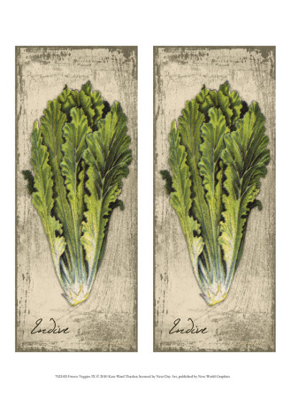 2-Up Fresco Veggies IX Art Print