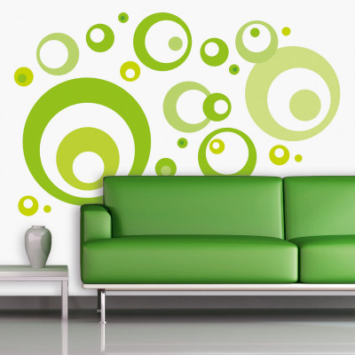 Lime Green Bubbles Wall Decal