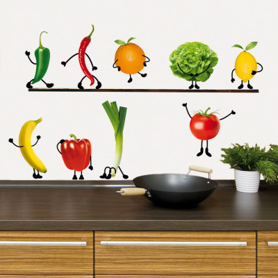 Crazy Vegetable Autocollant mural