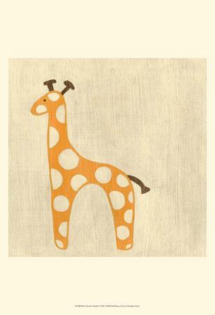 Best Friends - Giraffe Poster by Chariklia Zarris