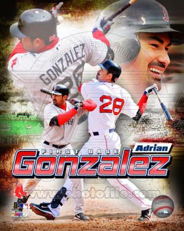 Boston Red Sox - Adrian Gonzalez 2011 Portrait Plus Photo