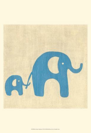 Best Friends - Elephants Posters by Chariklia Zarris