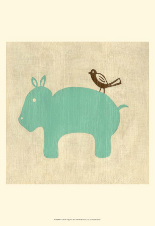 Best Friends - Hippo Art Print
