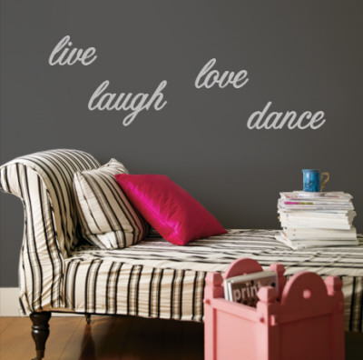 Live, Laugh, Love, Dance - Grey Wall Decal