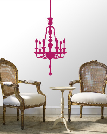 Hot Pink Classic Chandelier Vinilos decorativos