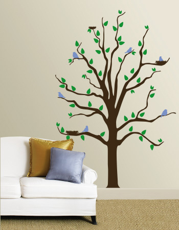 Tree With Blue Birds Wall Decal