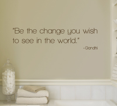 Change - Gandhi - Brown Wall Decal