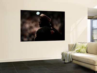 Dallas Mavericks v Miami Heat - Game Two, Miami, FL - JUNE 02: LeBron James Wall Mural by Mike Ehrmann
