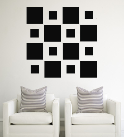 Black Squares Vinilos decorativos