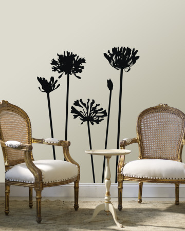 Black Agapanthus Wall Decal