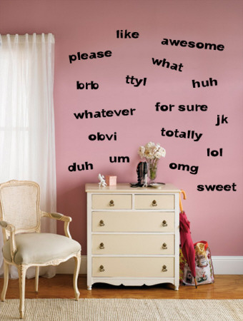 Teen Words - Girl Wall Decal