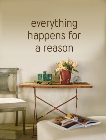 Everything Happens for a Reason - Brown Wall Decal