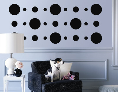Black Circles Wall Decal