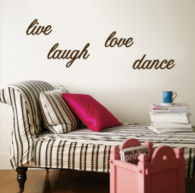 Live, Laugh, Love, Dance - Brown wandtattoos