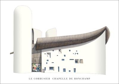 Chapel of Notre Dame du Haut, Ronchamp Art by  Le Corbusier