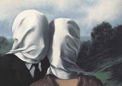 Les Amants (Lovers) Poster af Rene Magritte