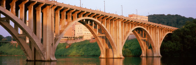 Bridge Across River, Henley Street Bridge, Tennessee River, Knoxville, Knox County, Tennessee, USA Photographic Print