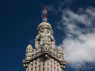 Low Angle View of a Building, Salvo Palace, Plaza Independencia, Montevideo, Uruguay Photographic Print