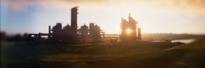 Old Oil Refinery at Dusk, Gasworks Park, Seattle, King County, Washington State, USA Photographic Print