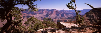Mountain Range, Mather Point, South Rim, Grand Canyon National Park, Arizona, USA Photographic Print