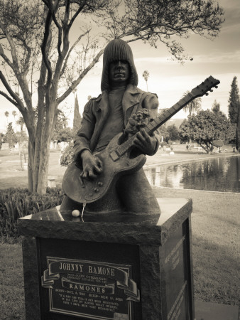 Tombstone of Johnny Ramone in Hollywood Forever Cemetery, Santa Monica Boulevard, Hollywood Photographic Print