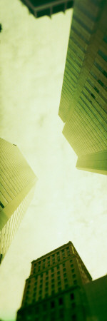 Low Angle View of Skyscrapers, Montreal, Quebec, Canada Photographic Print