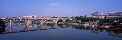 Bridge Across River, Henley Street Bridge, Tennessee River, Knoxville, Knox County, Tennessee Photographic Print