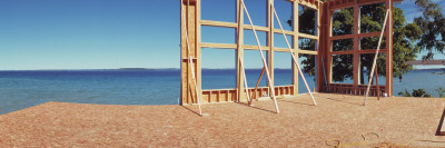 Construction Site at the Coast, Grand Traverse Bay, Grand Traverse County, Michigan, USA Photographic Print
